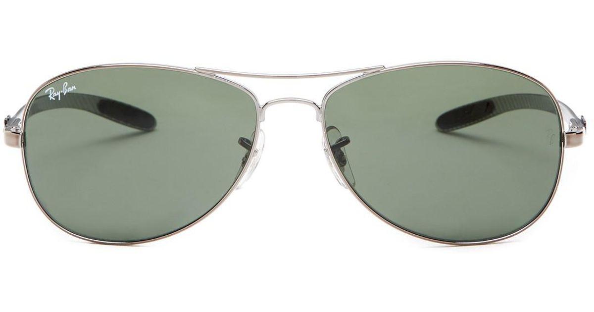 ed1bf22851 Lyst - Ray-Ban Tech Carbon Fibre 56mm Pilot Sunglasses for Men