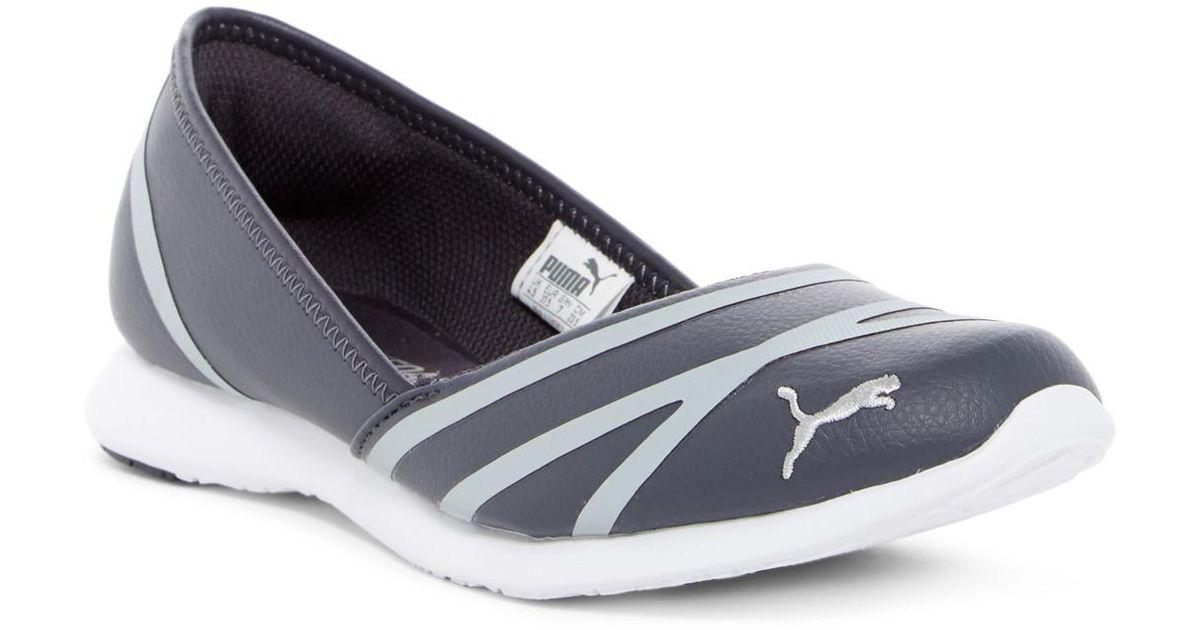 Lyst - PUMA Vega Ballet Sneaker Flat in Gray 0e747bc89