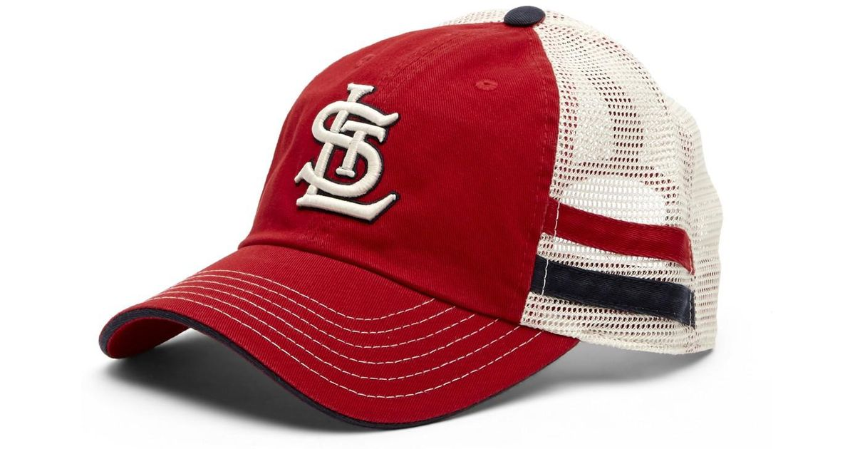 Lyst - American Needle Foundry St. Louis Cardinals Mesh Back Baseball Cap  in Red for Men d6dd2e0d264
