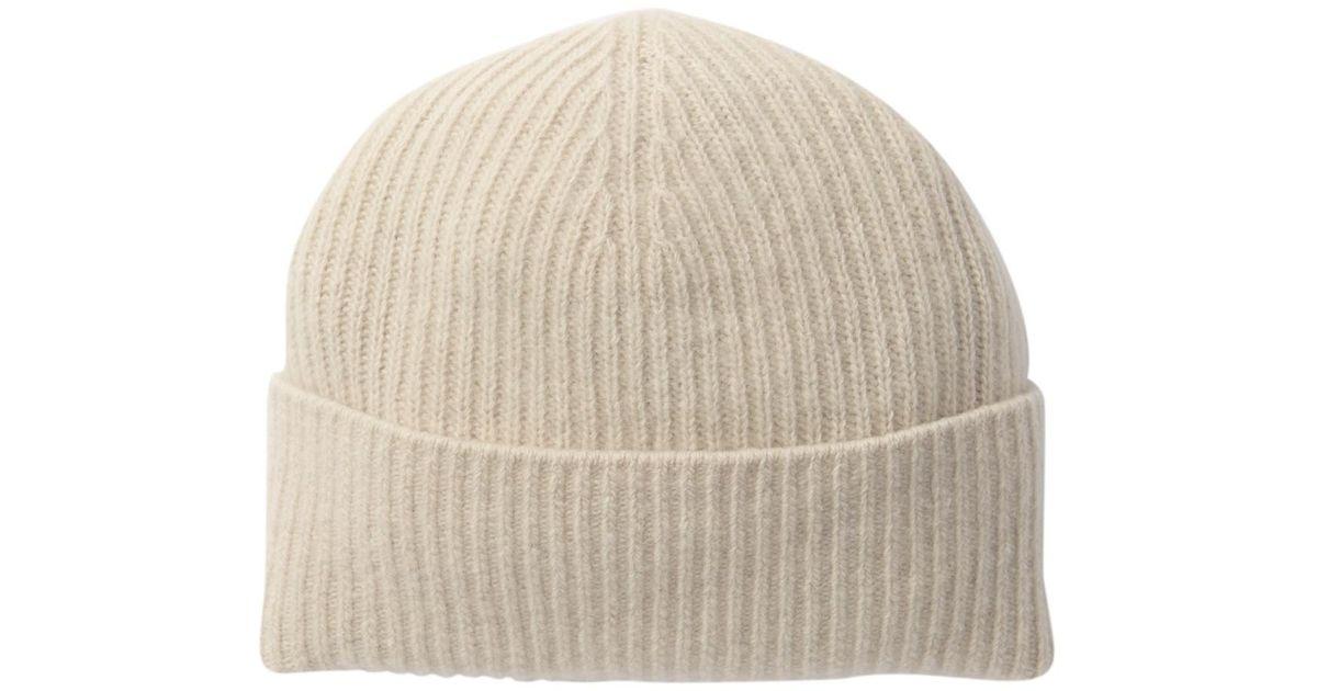 a241fef089e Lyst - Portolano Ribbed Cashmere Hat