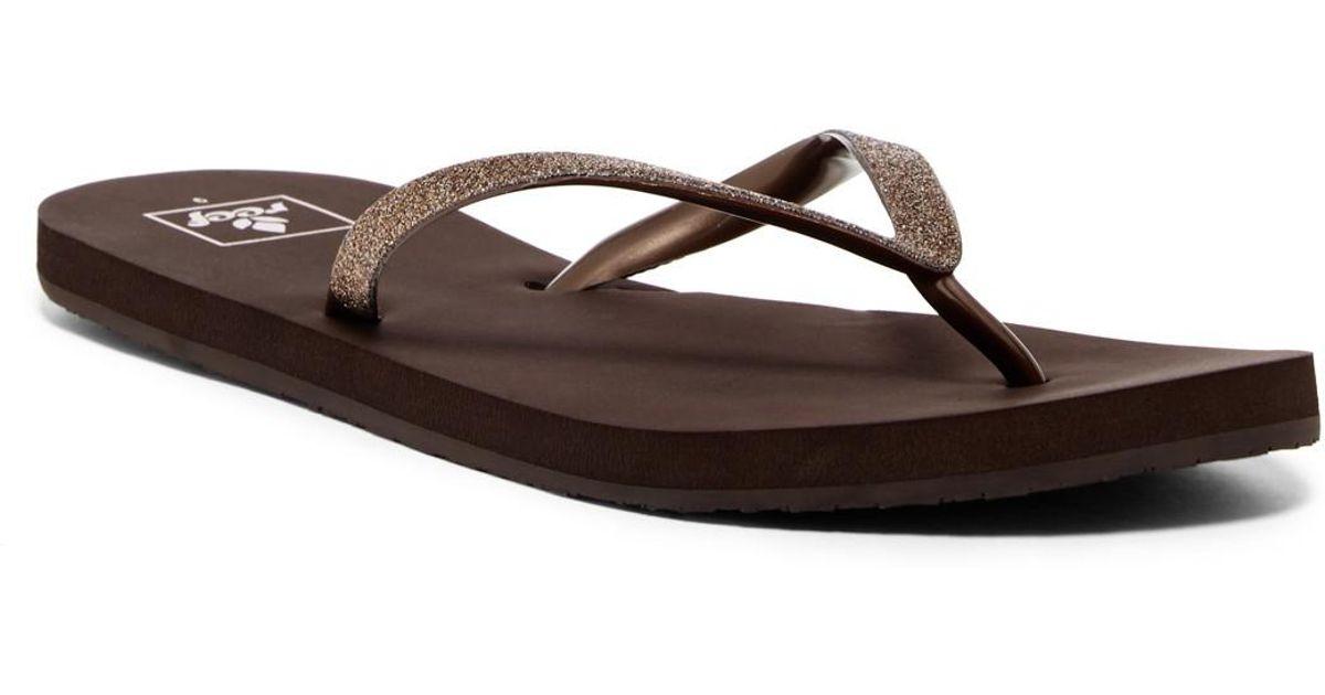 3109743388c Lyst - Reef Stargazer Bronze Glitter Flip Flop (women)