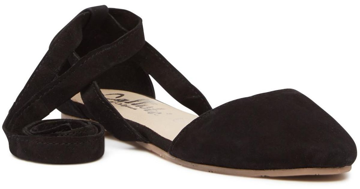 cbc8315ec8a Lyst - Callisto Anneka Lace-up D orsay Flat in Black