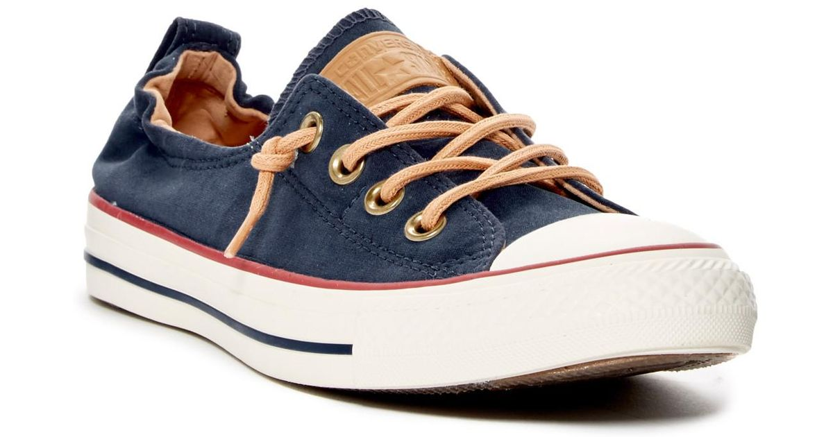 c6c2be28e6d3 Lyst - Converse Chuck Taylor(r) All Star(r)  peached - Shoreline  Low Top  Slip-on Sneaker (women) in Blue
