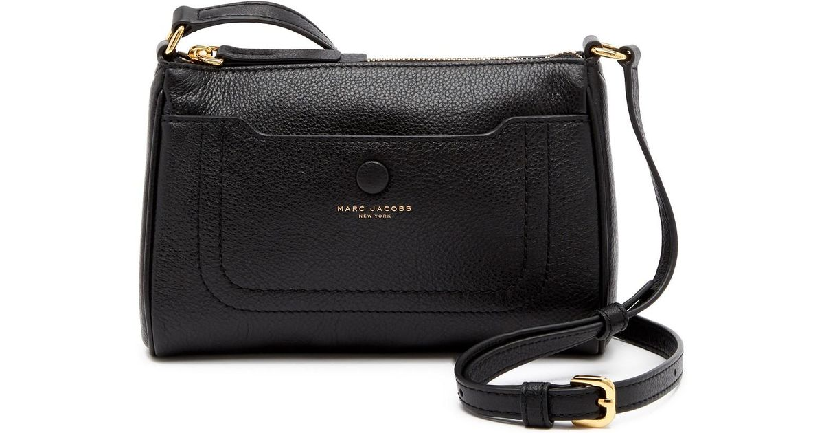 Lyst - Marc Jacobs Empire City Leather Crossbody Bag in Black