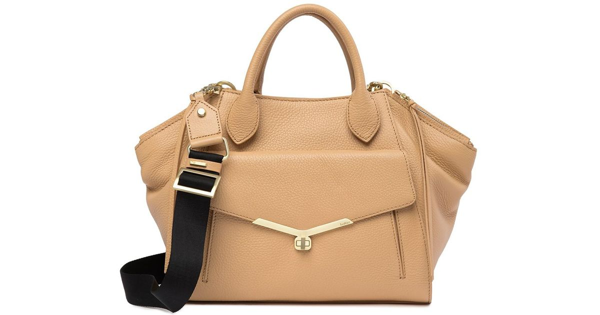 2f4ee8255a4f Lyst - Botkier Vivi Angled Leather Satchel - Additional Handles Available  in Natural