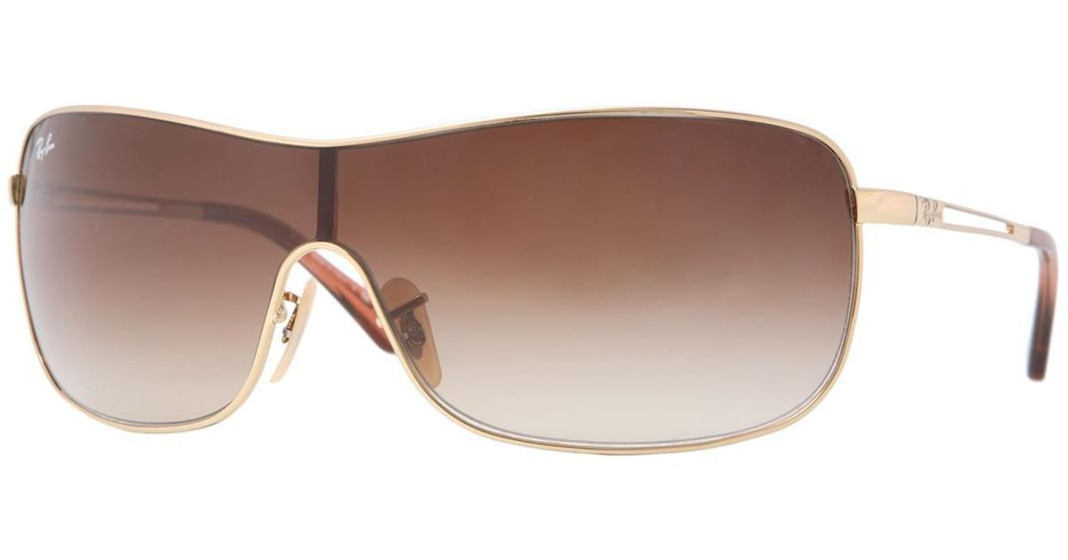 6ffd405582 Lyst - Ray-Ban 73mm Shield High Street Sunglasses in Brown