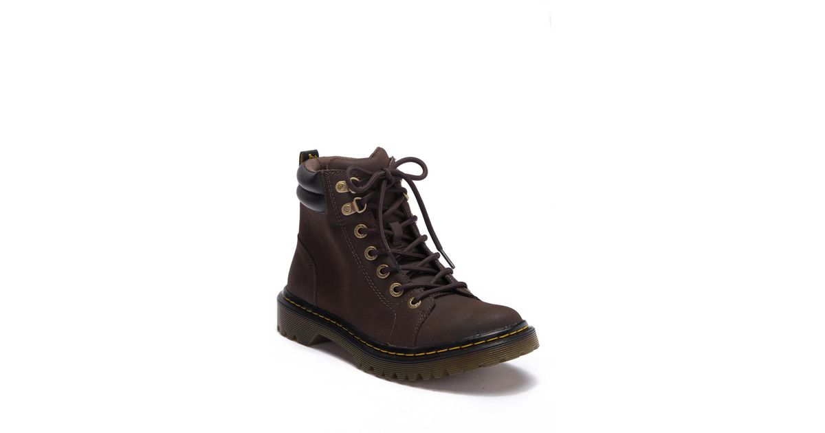 6bd68929302a Lyst - Dr. Martens Faora Leather Lace Up Boot in Brown