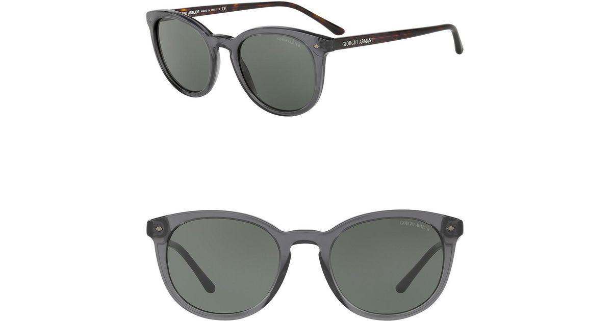2e0d9279da87 Lyst - Giorgio Armani Wayfarer Sunglasses in Gray for Men