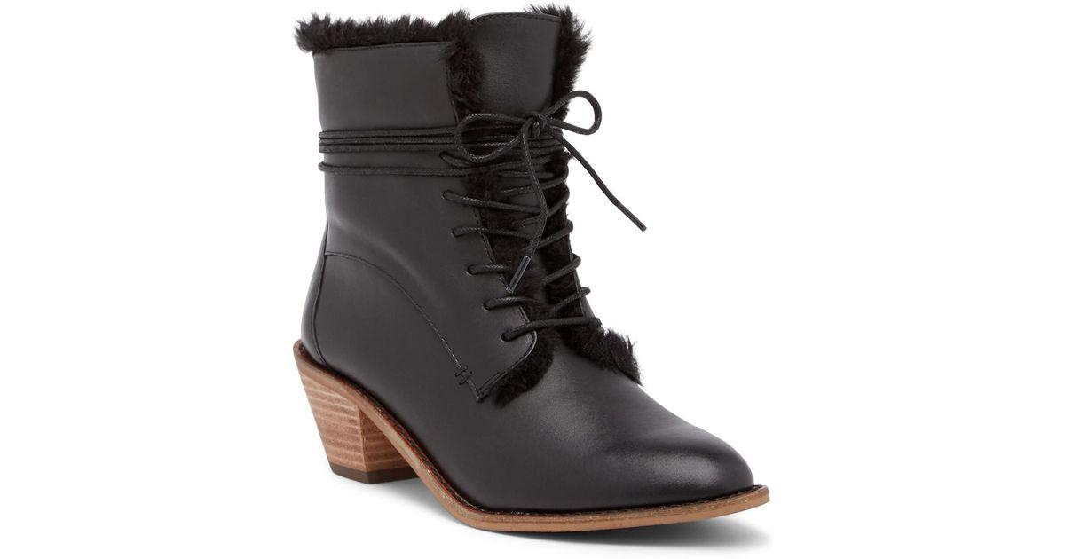 242648ee2e817 Lyst - Kelsi Dagger Brooklyn Kingsdale Faux Fur Lined Leather Boot in Black