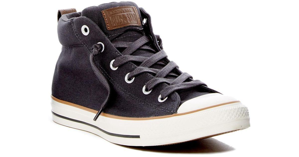 Lyst - Converse Chuck Taylor Street Mid Sneaker (unisex) for Men ab9d34179588