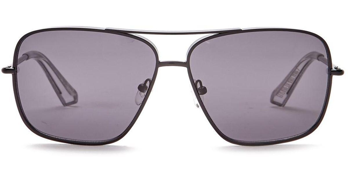 89eb72f62b Lyst - Elizabeth and James Deacon 61mm Metal Aviator Sunglasses
