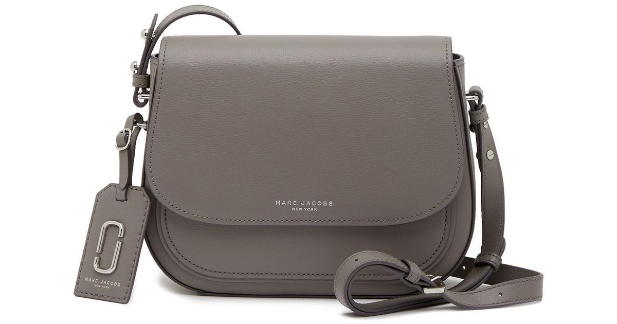 2d94ebbf5d80 Lyst - Marc Jacobs Rider Leather Crossbody Bag in Gray