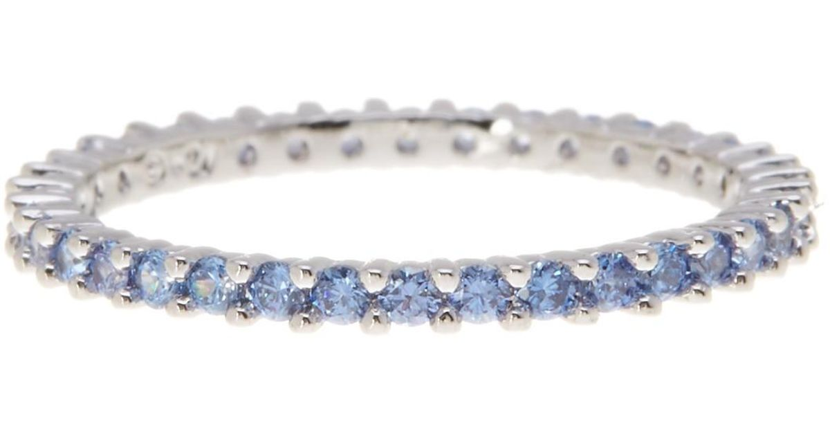 44006f962 Lyst Swarovski Vittore Pave Crystal Accented Ring Size 6 75 In Blue