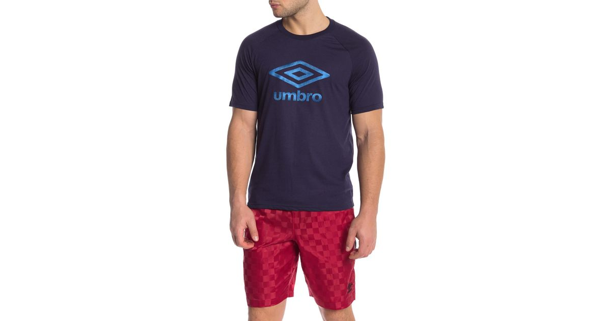 b56850d0bc Lyst - Umbro Short Sleeve Front Graphic Logo Print Tee in Blue for Men