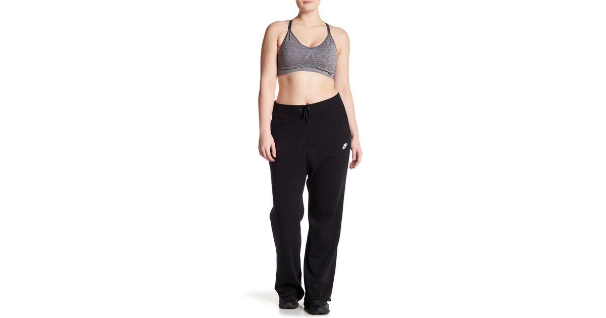 45e36380975e Lyst - Nike Fleece Lined Wide Leg Sweatpants (plus Size) in Black