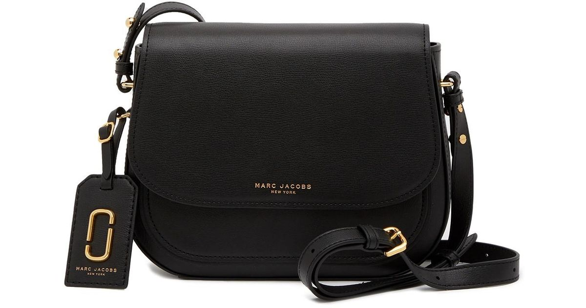 fec0682649 Marc Jacobs Rider Leather Crossbody Bag in Black - Lyst