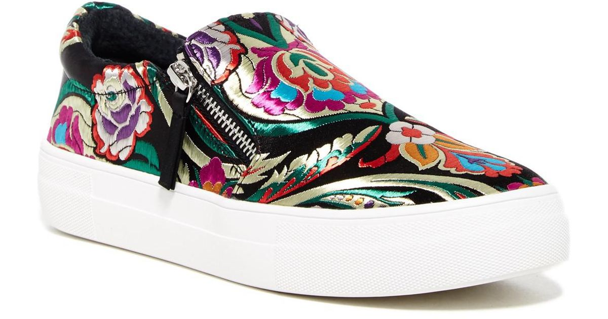 be23740e224 Lyst - Steve Madden Geary Embroidered Sneaker