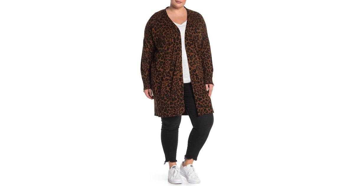 408a73227b4 Lyst - Sanctuary Lenox Leopard Cardigan (plus Size) in Brown