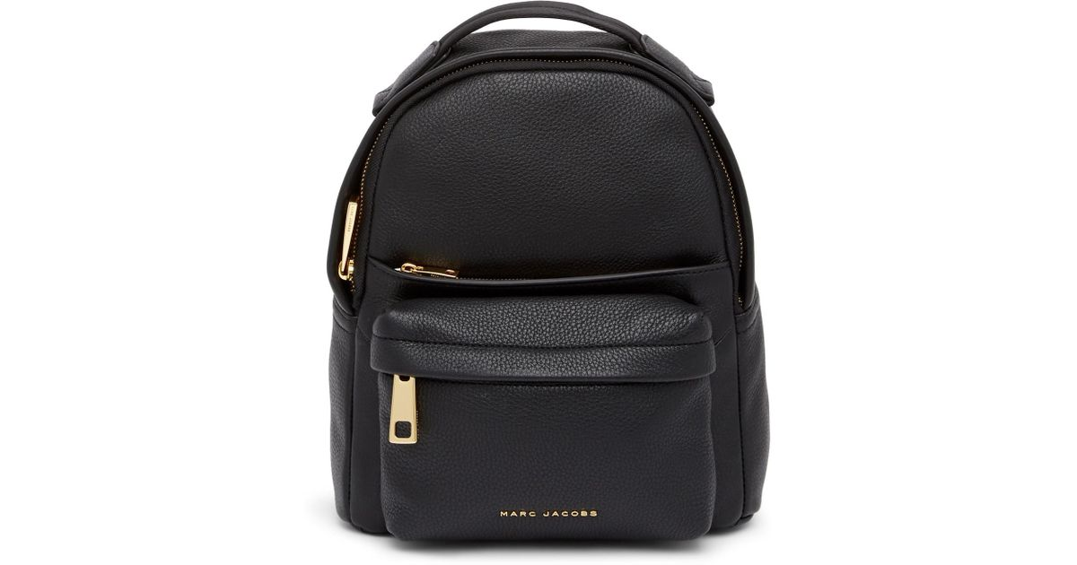 f1d9cfcf02e3 Lyst - Marc Jacobs Varsity Pack Small Leather Backpack in Black
