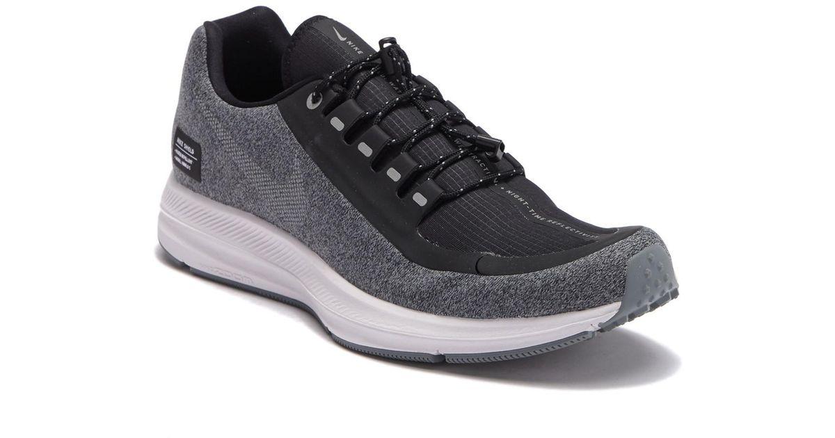 ce50d963d095 Lyst - Nike Zoom Winflo 5 Run Shield Running Sneaker in Black for Men
