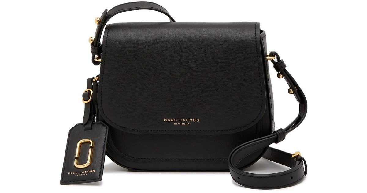 3b0447be4be8 Lyst - Marc Jacobs Mini Rider Leather Crossbody Bag in Black