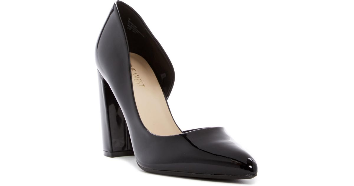 10e9174e04 Nine West Anisa D'orsay Block Heel Pump - Wide Width Available in Black -  Lyst