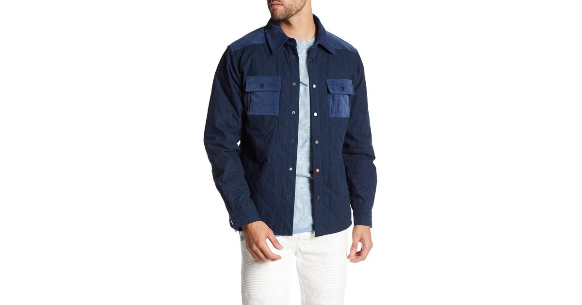 Lyst Stonefeather Quilted Hunting Jacket In Blue For Men