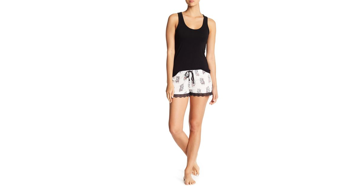 17fdafcadc Lyst - Pj Salvage Beauty Queen Pajama Shorts in White