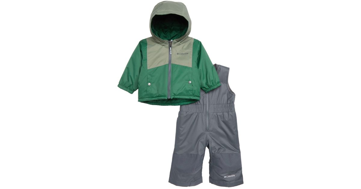 c9bf7eae4 Lyst - Columbia Double Flake Waterproof Insulated Jacket & Bib Snowsuit (baby  Girls) in Green for Men