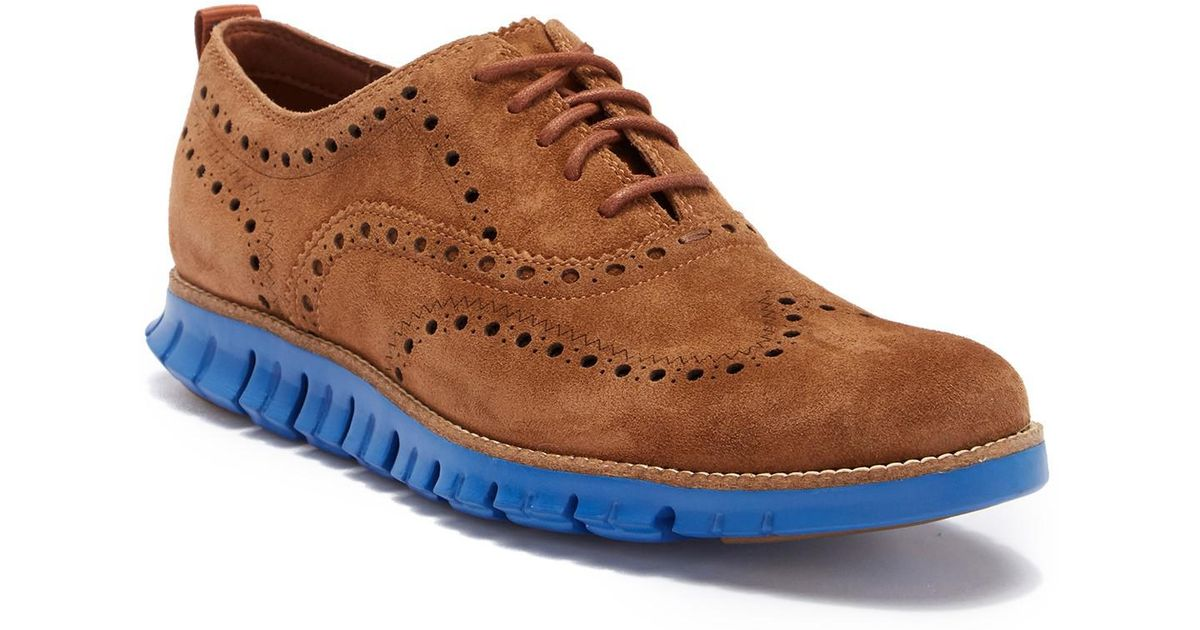 8ae155e9919 Lyst - Cole Haan Zero Grand Wingtip Oxford in Brown for Men