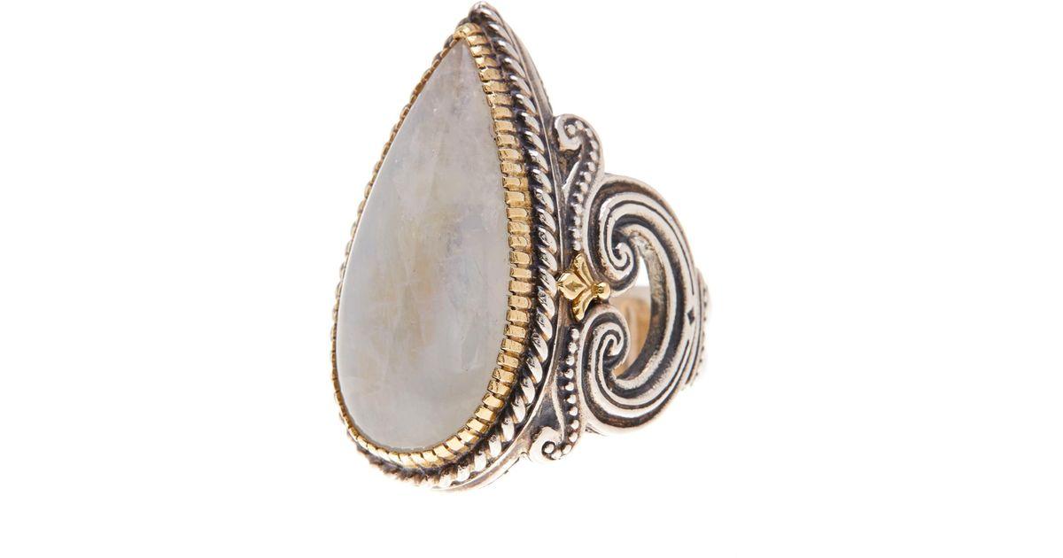 Konstantino Erato Labradorite Teardrop Ring, Size 7