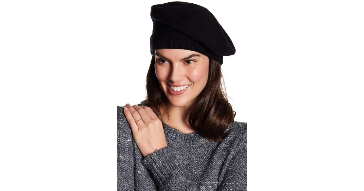 Lyst - Kate Spade Contrast Bow Beret in Black 1046804dbf1