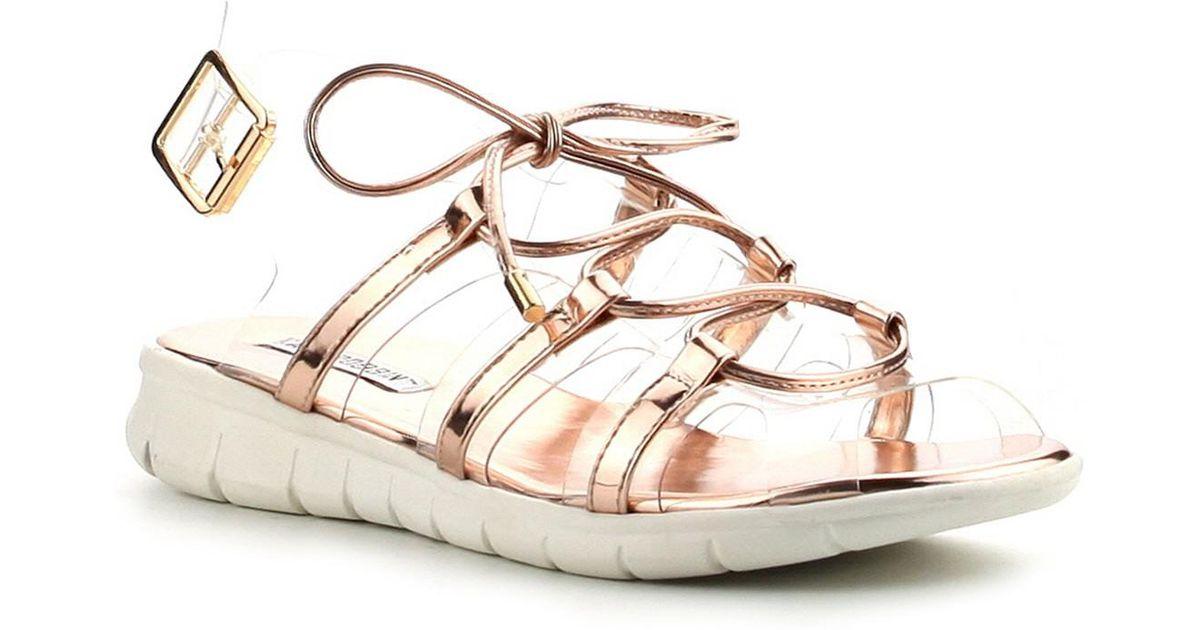 Cape Robbin Darcy Metallic Sandal Bd3aQ0W