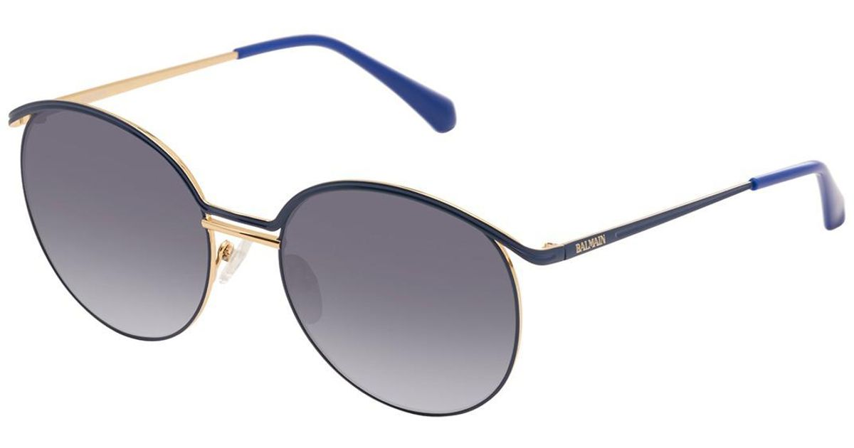 Lyst - Balmain Round 55mm Metal Frame Sunglasses in Blue