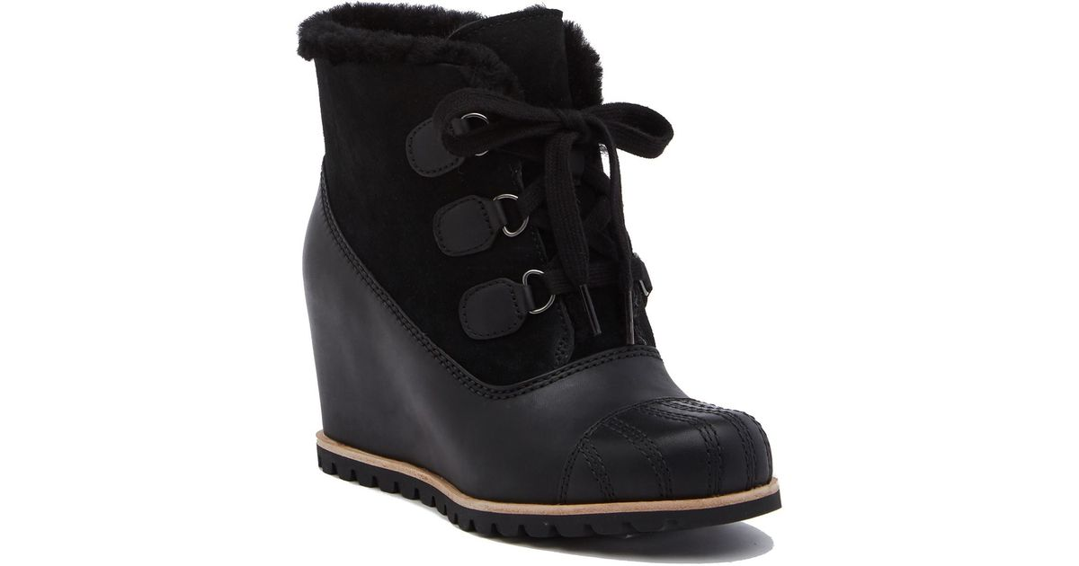 a0e325f5037 Lyst - UGG Alasdair Waterproof Wedge Bootie (women) in Black