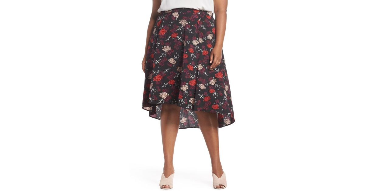 5e8b99bf45 Lyst - Sejour Flounce High/low Skirt (plus Size)