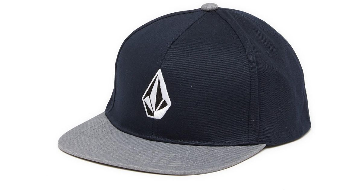 af6ed865cb6 ... czech lyst volcom v stone snapback hat in blue for men e8835 1138e ...