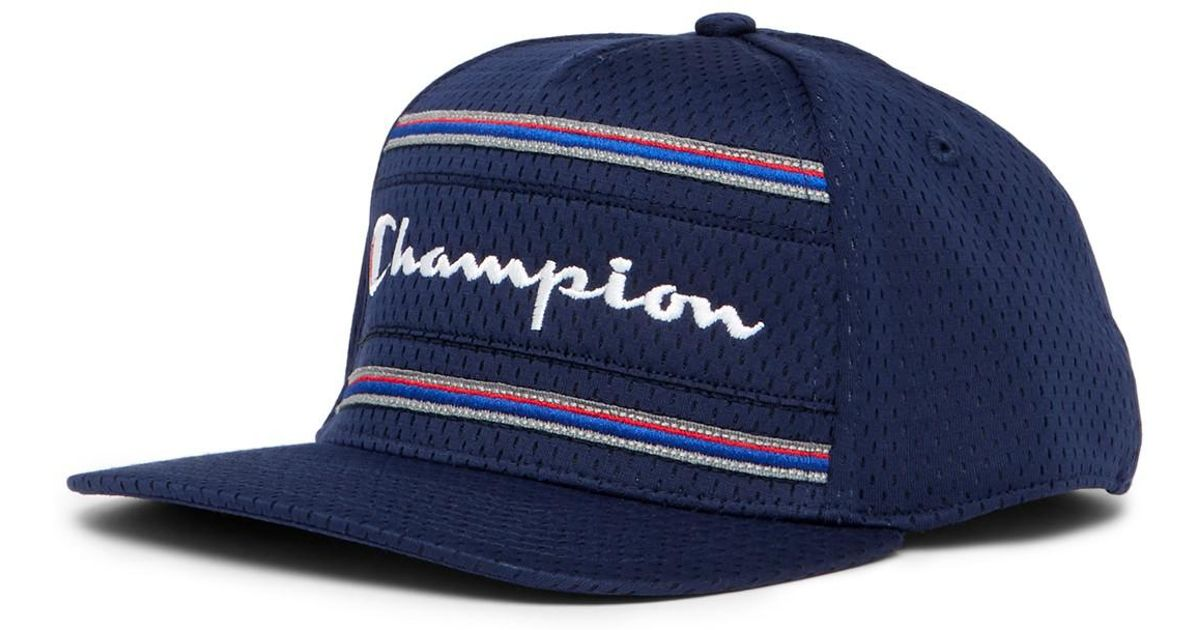 Lyst - Champion Bankshot Logo Cap in Blue for Men 7184563d3ed