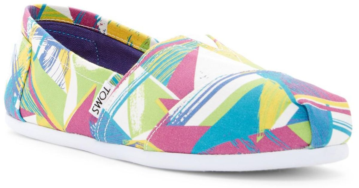 TOMS Classic Pastel Multi Triangles Slip-On vb8cNd6O