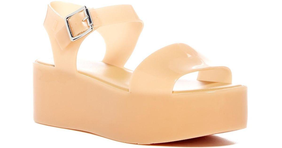 49e065d5fb4 Lyst - Melissa  mar  Platform Sandal (women) in Natural