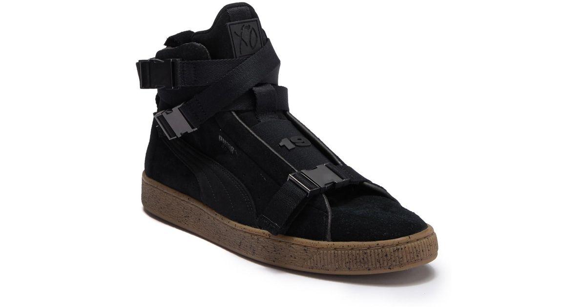 Lyst - PUMA Suede Classic X The Weeknd High Top Sneaker in Black for Men 9b86f0ec7
