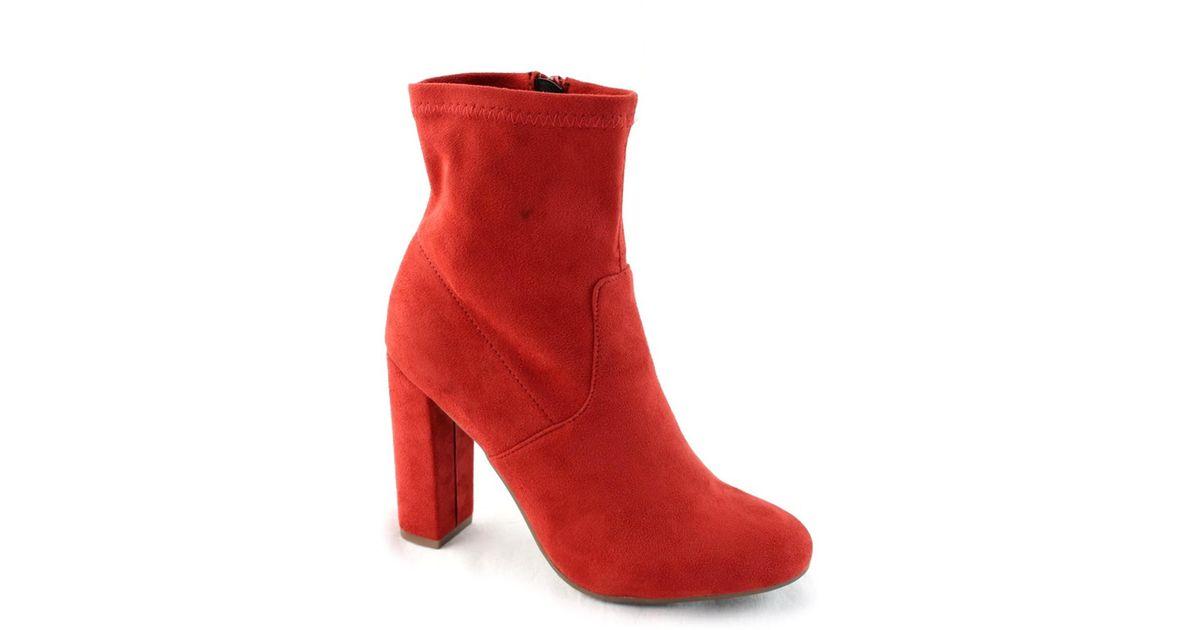 Elegant Footwear Laren Round Toe Block Heel Bootie 71XB9