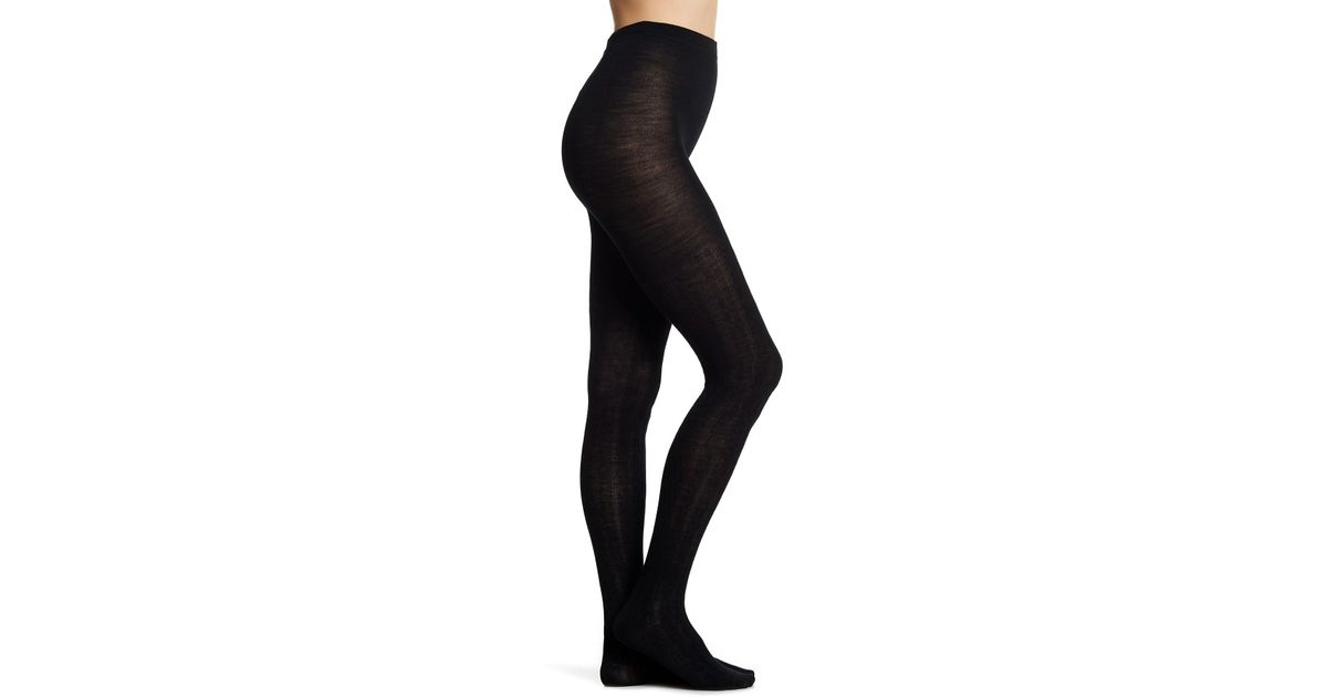 1fe4a89a05c08 Lyst - Smartwool Wool Blend Cable Knit Tights in Black