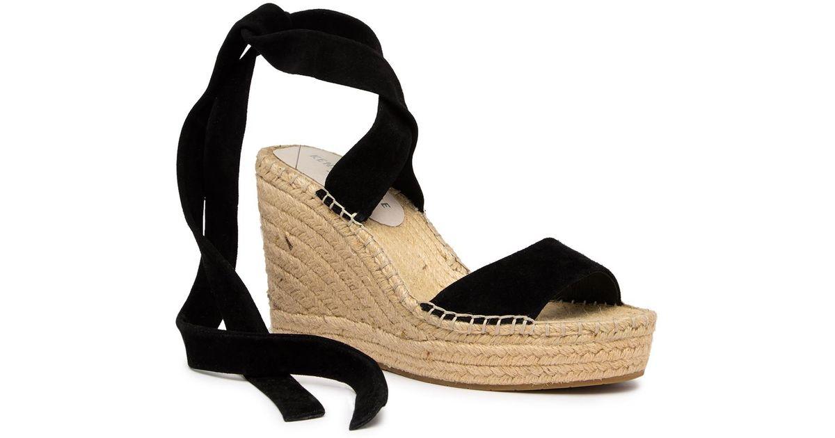 ed7ad04b509 Kenneth Cole - Black Odile Ankle Wrap Wedge Sandal - Lyst