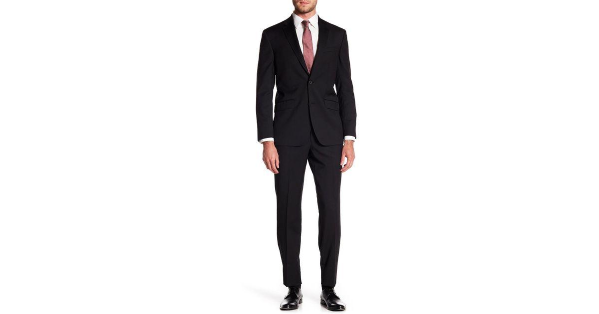 7f8976aaf Lyst - Ted Baker Self Stripe Suit in Black for Men
