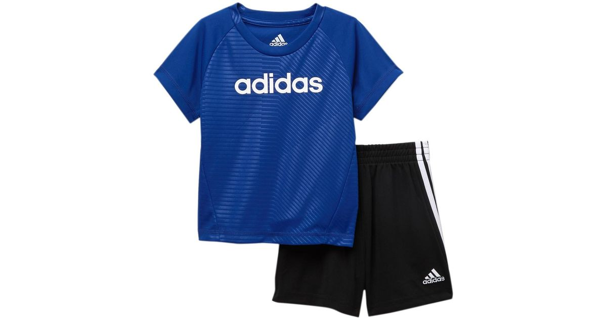 48ed5d8902d7c adidas T-shirt & Shorts Set (baby Boys) in Blue for Men - Lyst