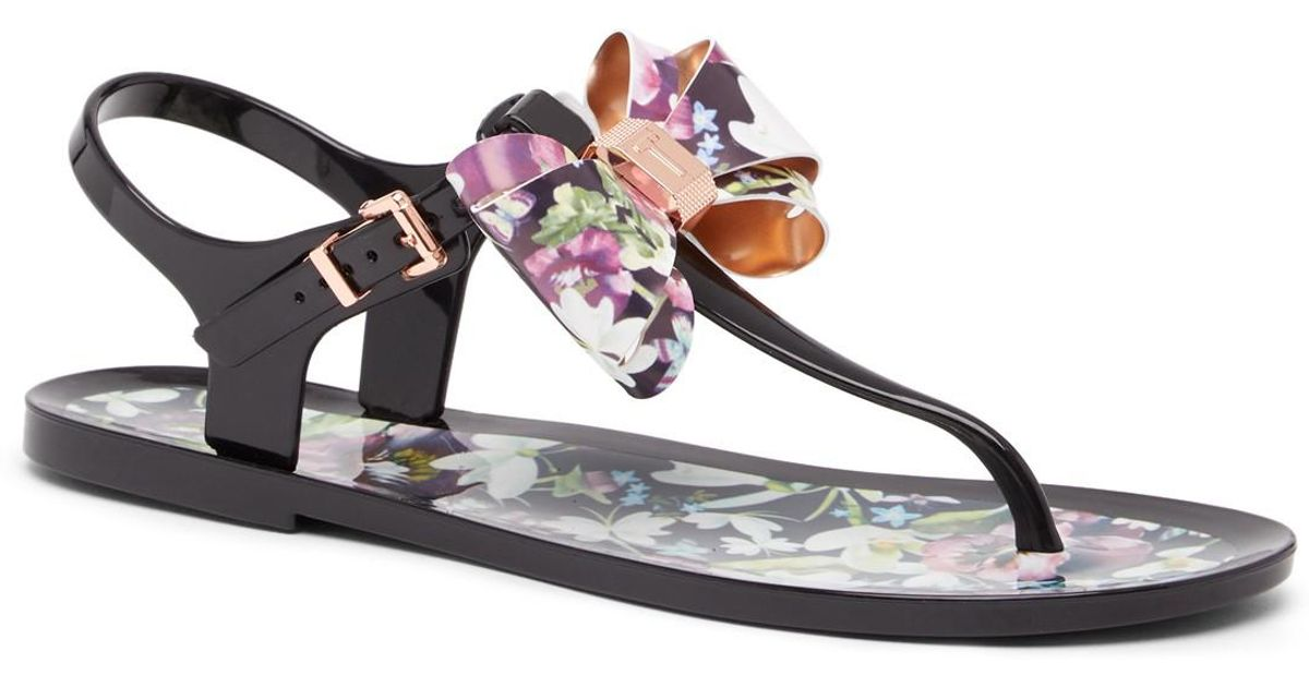 95a5864ed211 Lyst - Ted Baker Effiey Floral Bow Sandal