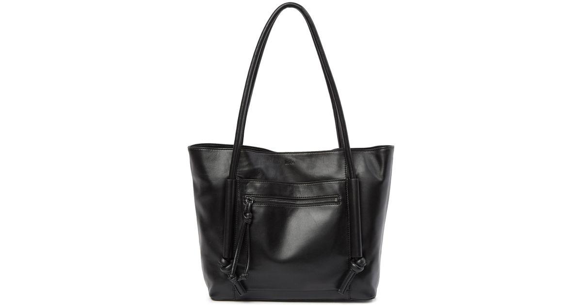 Lyst - Kooba Cameroon Leather Tote Bag in Black 9fc5e239ca4fa