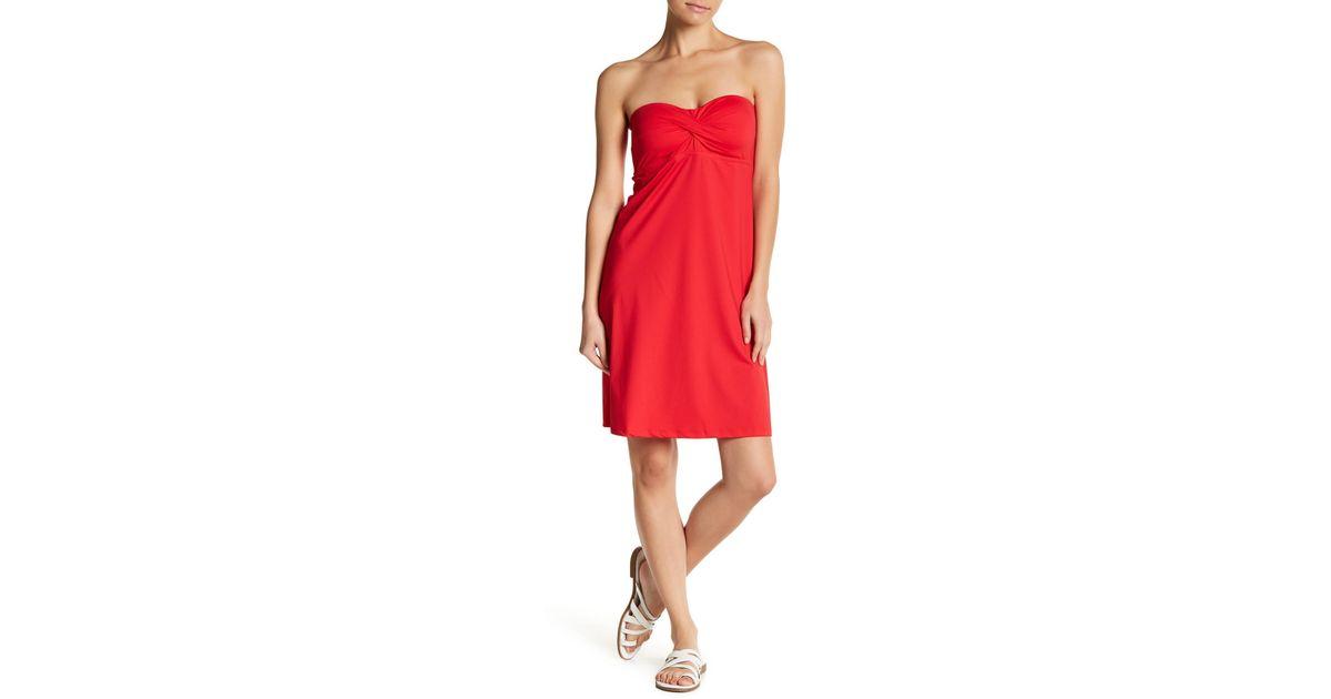Pearl Strapless Dress
