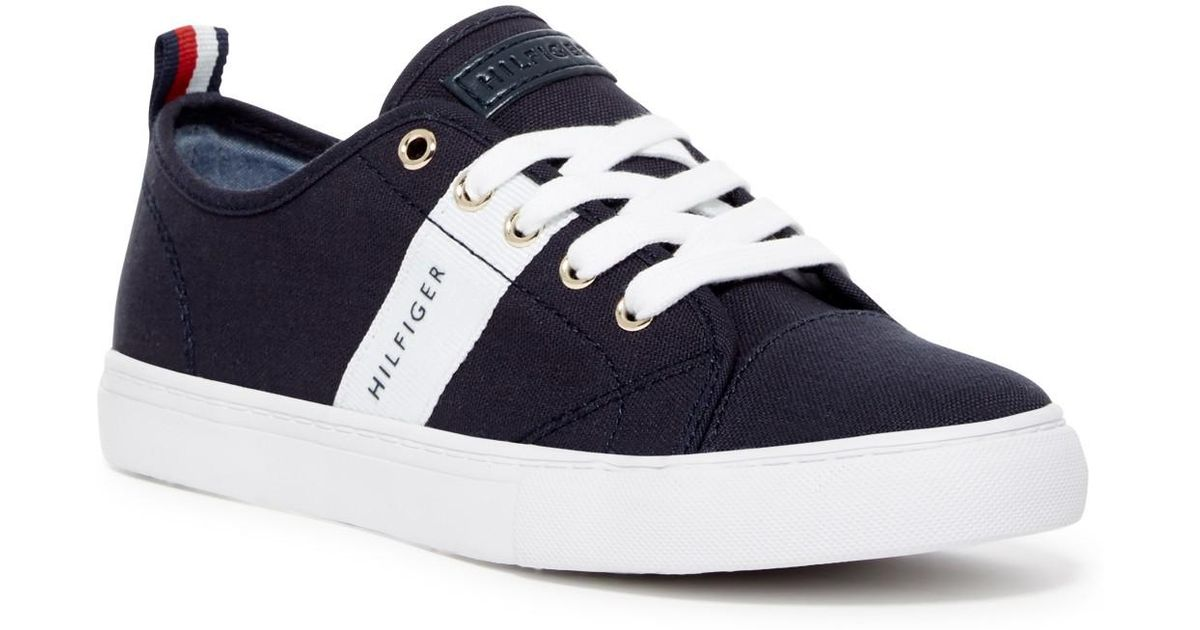 529b2d279853 Tommy Hilfiger Lancer Canvas Sneaker in White - Lyst